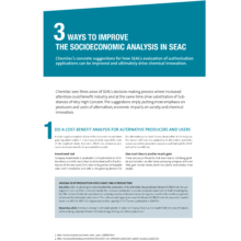 3 Ways to improve the Socioeconomic Analysis in SEAC (June 2015)