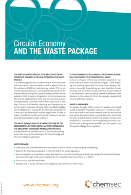 Circular Economy and the Waste Package