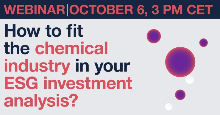 Webinar: The best way to fit the chemical industry in your ESG investment analysis
